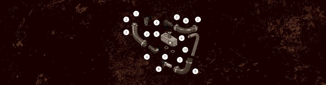 Baker Drivetrain S&S Adapter kit for the BAKER +1 Oil Pan Installation Instructions